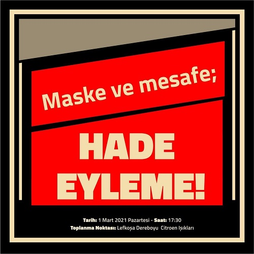 Maske ve Mesafe; HADE EYLEME